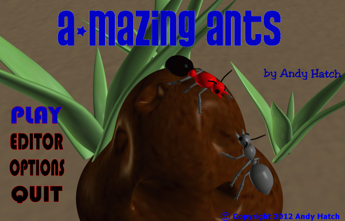 Below Zero Games A-mazing Ants Page